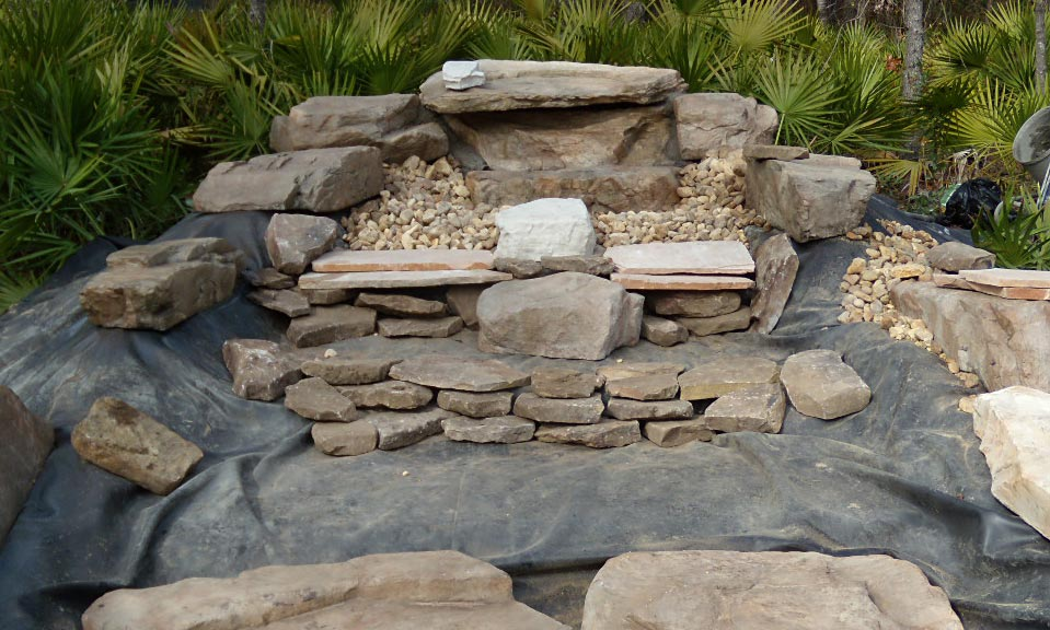 Ornamental fish pond for Ornamental pond waterfall