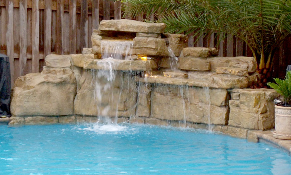 Jacksonville Pool Waterfall Design Beautiful Custom