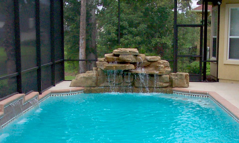 Jacksonville Pool Waterfall Design Beautiful Custom Waterfalls For Your Pool Deck