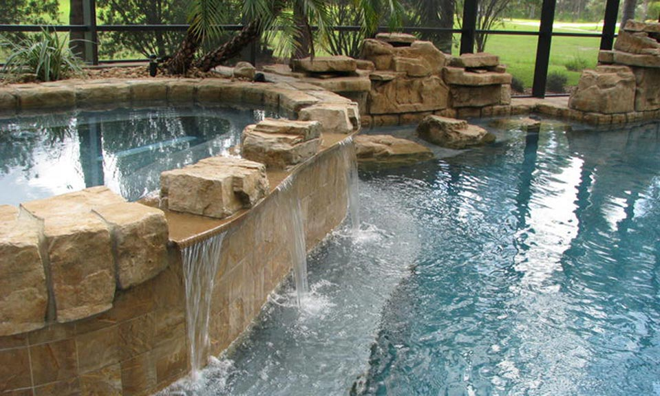 Swimming Pool Waterfall Designs find this pin and more on pool end popular pool with waterfall swimming pool waterfall designs Ricorock Waterfalls