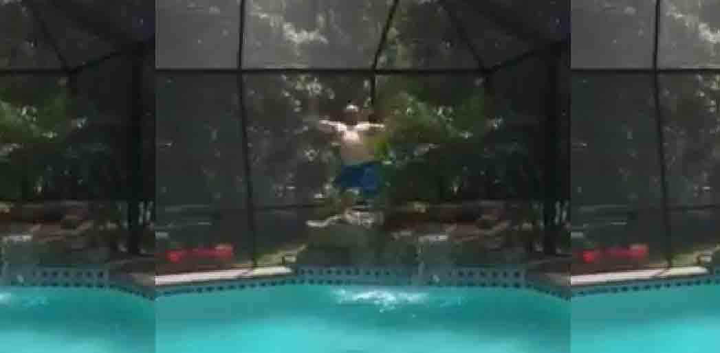 A very happy customer coastal coating resurfacing for Florida pool show 2015